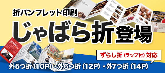 ネット印刷WAVE、折パンフレット印刷、ポスター印刷の仕様拡大