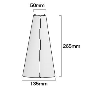 メガホンを組み立てた場合のサイズ