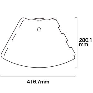 メガホンを展開した場合のサイズ