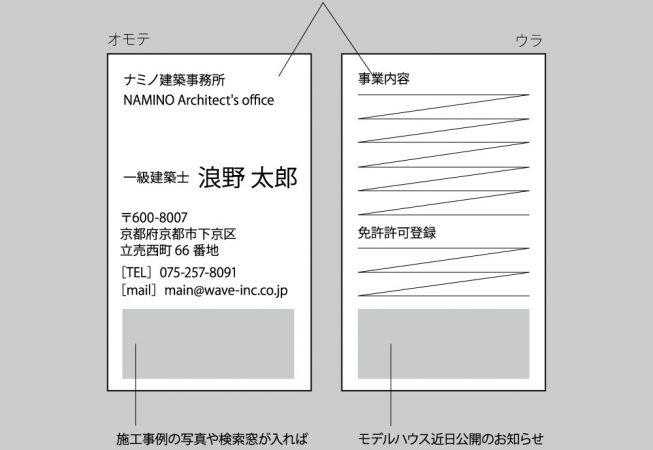名刺(建築事務所)ラフ