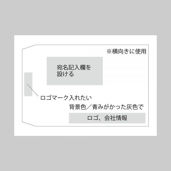 角2封筒のラフ