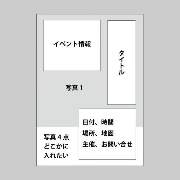 イベントポスターのラフ