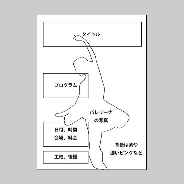 イベントチラシ(コンサート)のラフ