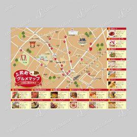 観光販促チラシ(グルメマップ)