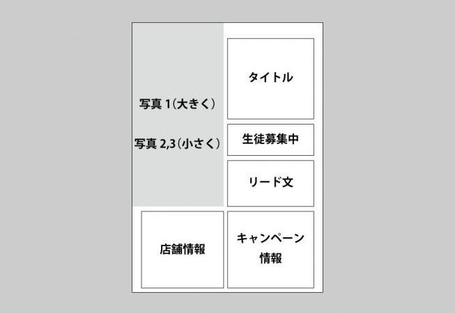 生徒募集広告チラシ(料理教室)のラフ
