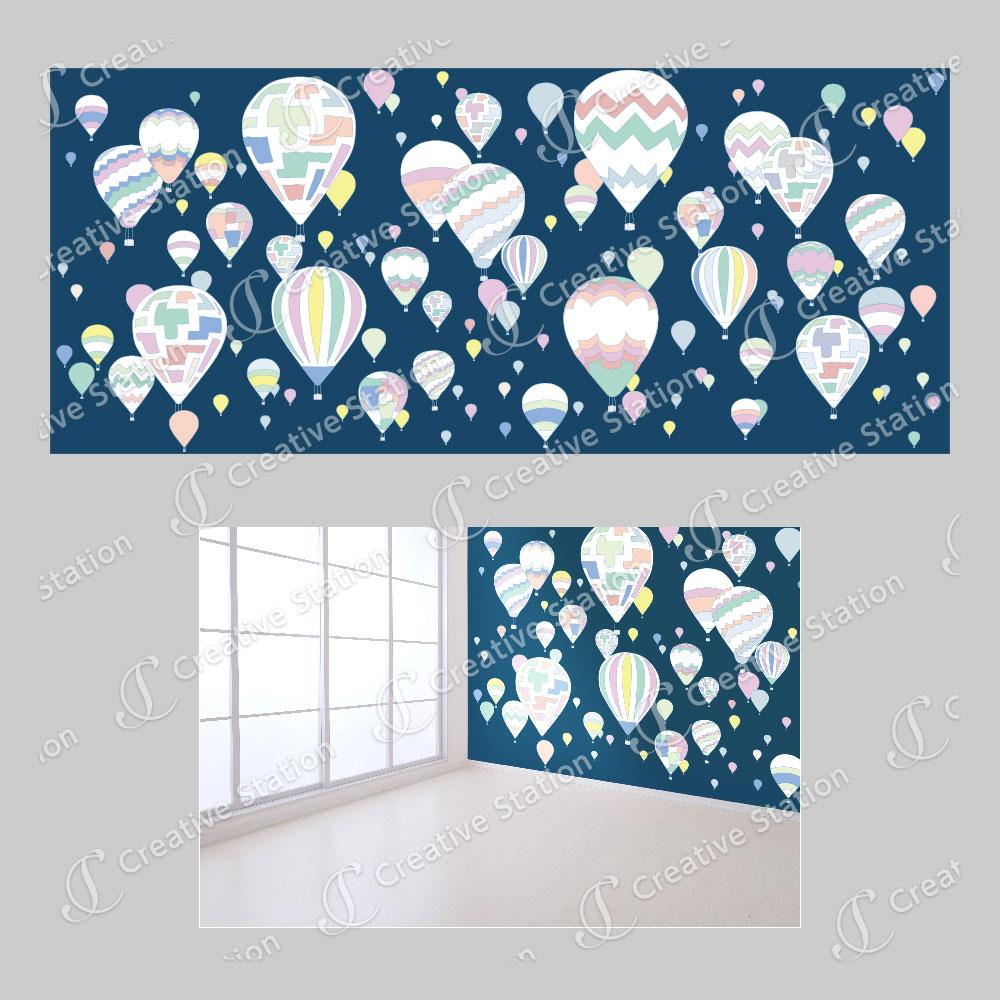 子供部屋の壁紙 デザイン制作例 Creativestation ウエーブの