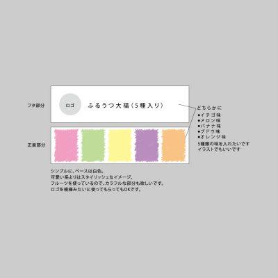 和菓子のパッケージデザインラフ