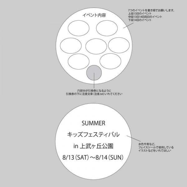 うちわのデザインラフ