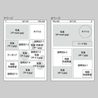情報誌のデザインラフ3