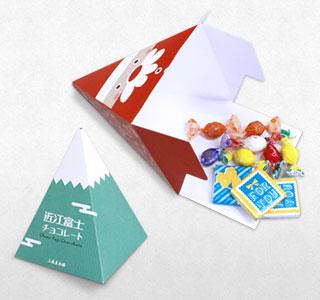 四角すい(ピラミッド型)POPでオリジナルパッケージ