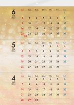 ECO壁掛け3ヶ月カレンダー印刷(タンザック)(6ページ)