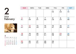 卓上ECOリング綴じカレンダー(Bタイプ)