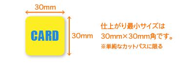 カット可能な最小サイズは約30mm角