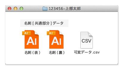 Illustratorでご入稿の場合、印刷データと可変データが必要です。