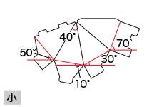 四角すいPOP(小)の角度
