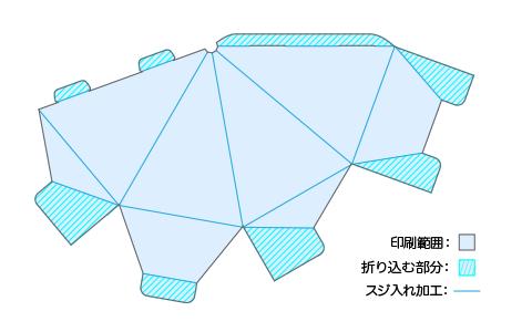 四角すい(ピラミッド型)POPサイズと形状