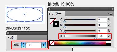 カットパスの線幅は1pt、線の色はK100%で作成してください