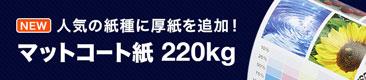 マットコート紙 220kgを新たに追加!