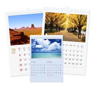 壁掛けカレンダー印刷