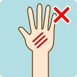 傷などのある場合はその部分には貼付しないでください。