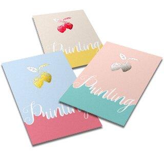 箔押しカード印刷サンプル