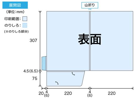A4ポケットフォルダーのサイズ