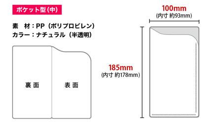 ポケット型(中)のサイズ