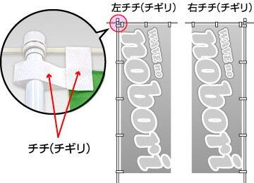 のぼり印刷チチ/チギレ画像