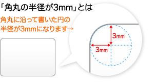 角丸の円の半径で決まります