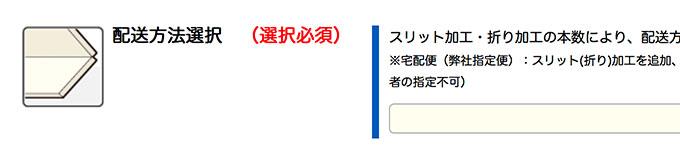 配送方法オプションからご選択ください