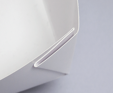 蝶々貼りタイプの角の仕上がり1