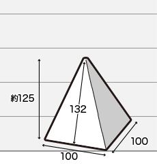 四角すい(ピラミッド型)POP小サイズ