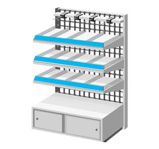 レールPOPは商品棚のフチに設置が可能