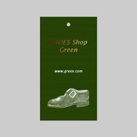 靴商品ブランドネームタグ