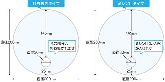 円形うちわのサイズ