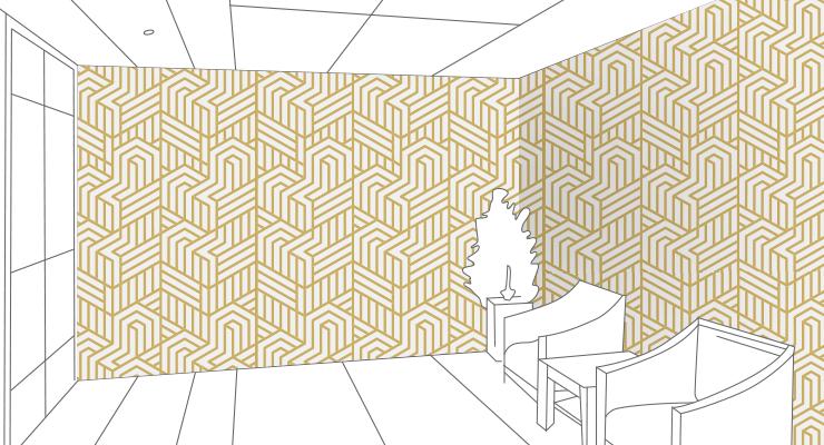 幾何学的な壁紙