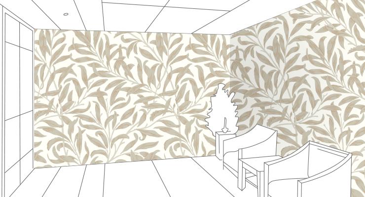 洋風な壁紙