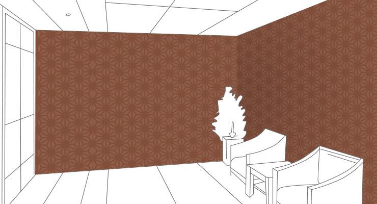 和風、麻の葉の壁紙