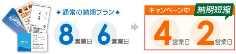 8営業日プラン→4営業日以内発送!6営業日プラン→2営業日以内発送!