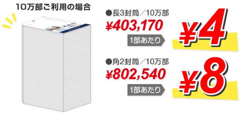 10万部ご利用の場合、一部あたり4円から