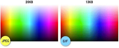 JPEGとGIFの比較対比、データサイズの比較画像2