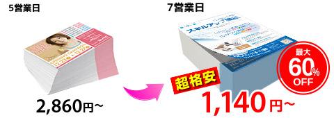 フライヤー印刷の参考価格