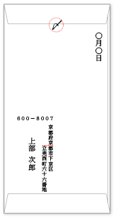 縦 書き 英語 封筒