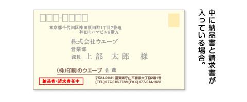 封筒への内容表記
