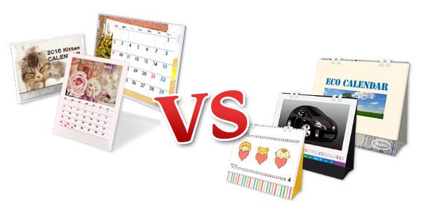 仕様・特徴を徹底比較!(その2) 卓上ECOリング綴じカレンダー vs 卓上プラスチックケース入りカレンダー