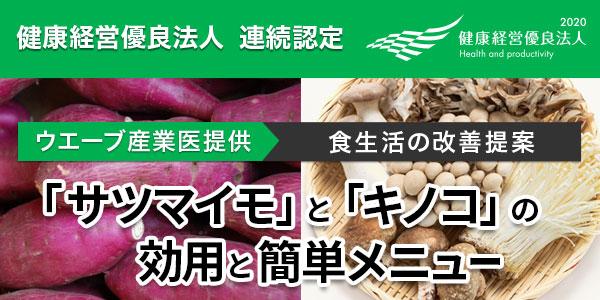 【食生活の改善提案】季節の食材を取り入れましょう!「サツマイモ」と「キノコ」の 効用と簡単メニュー